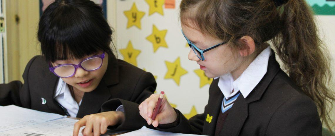 Pupils learning at Braeside